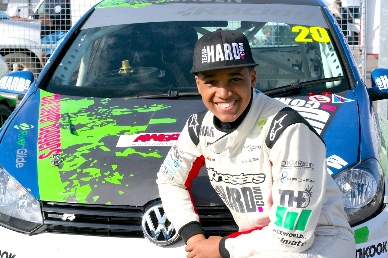 damani-marcano-donington-smiling-in-front-of-car