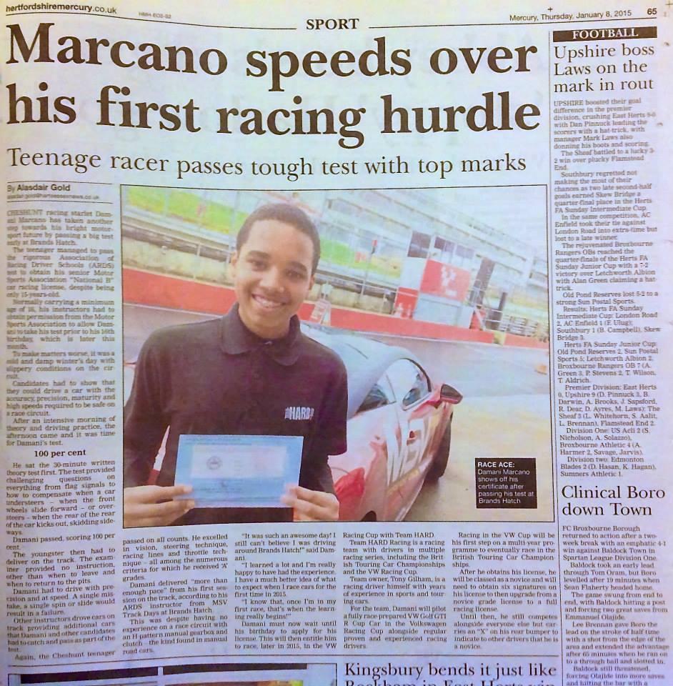 Herts Mercury Newspaper Article