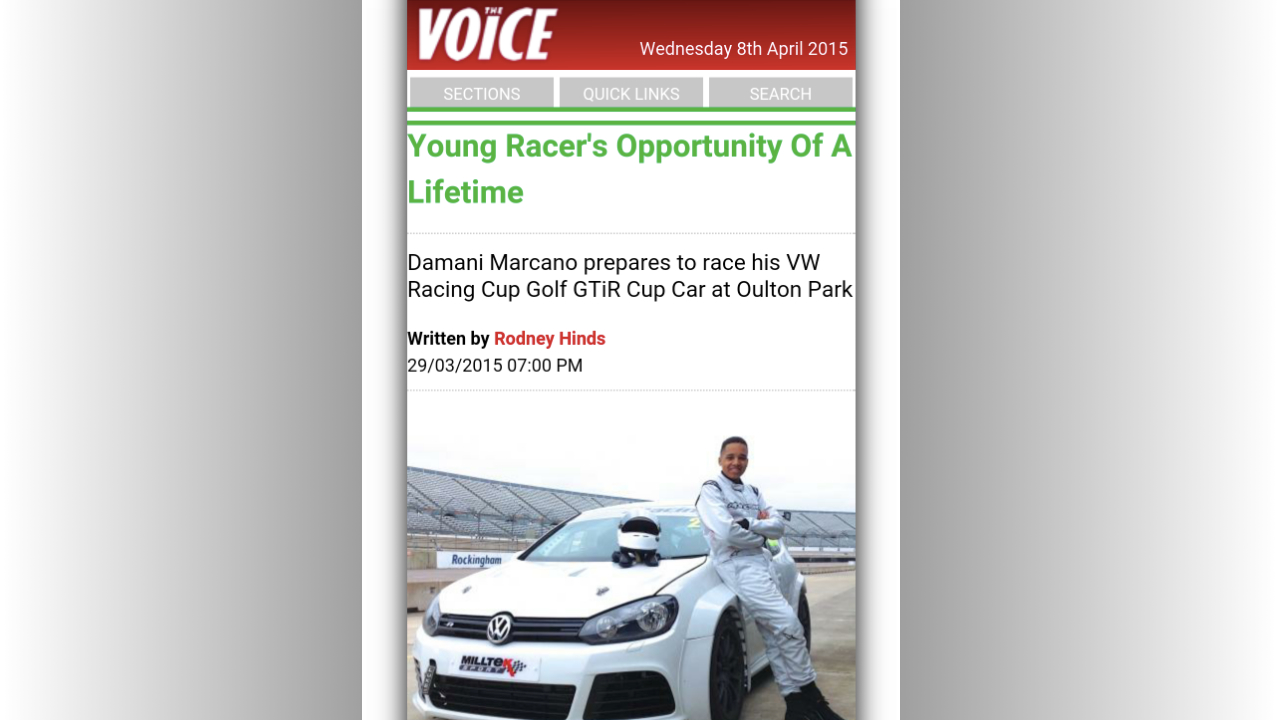 voice-young-racer-opportunity-of-a-lifetime
